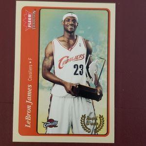 LeBron James Cavaliers basketball card fleer card